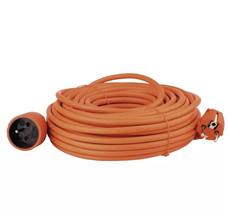 EMOS - Prodlužovací kabel – spojka, 25m, oranžový