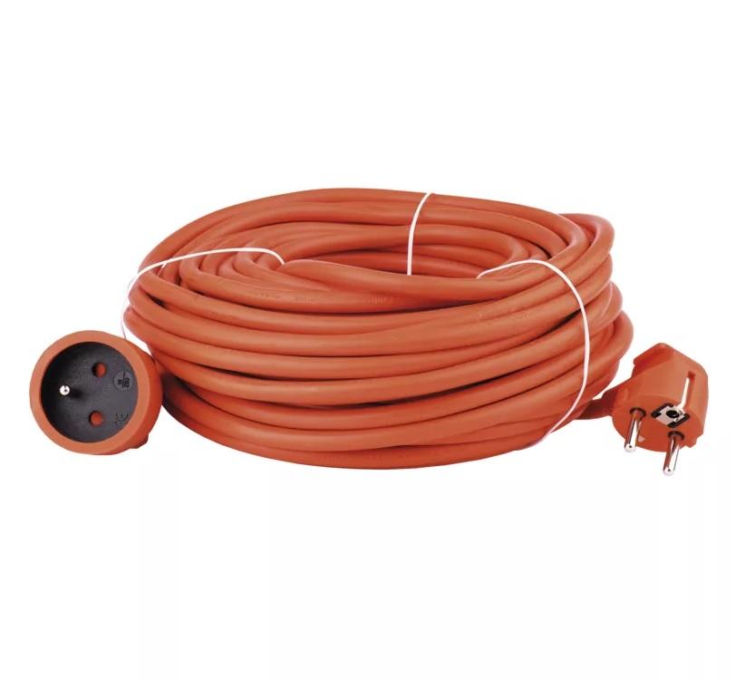 EMOS - Prodlužovací kabel – spojka 30m, oranžový