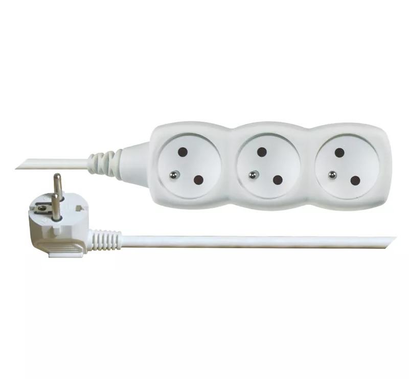 EMOS - Prodlužovací kabel – 3 zásuvky, 7m, bílý