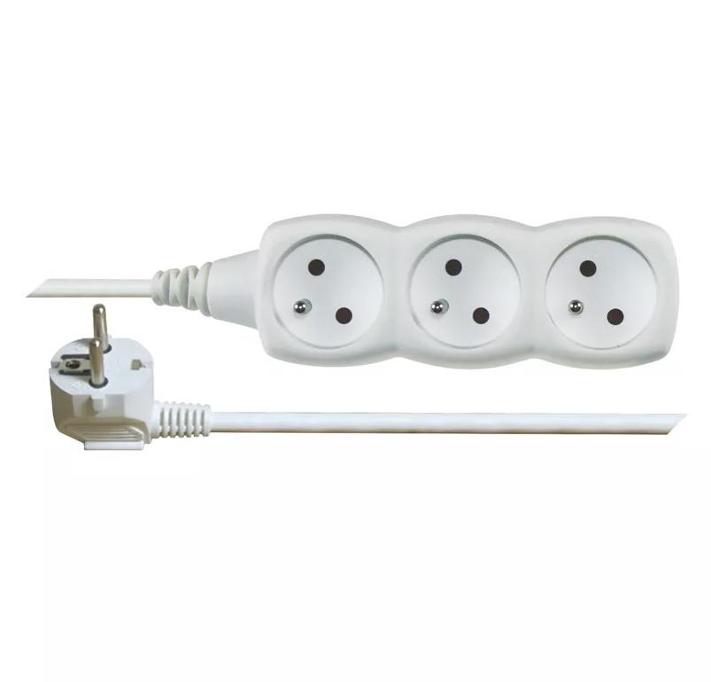 EMOS - Prodlužovací kabel – 3 zásuvky, 10m, bílý