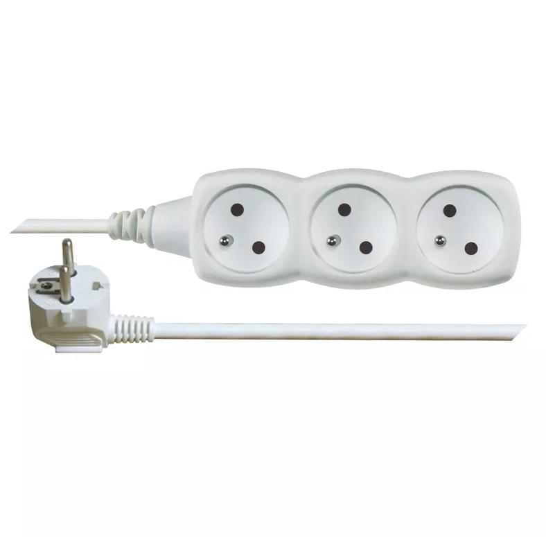 EMOS Prodlužovací kabel – 3 zásuvky, 2m, bílý