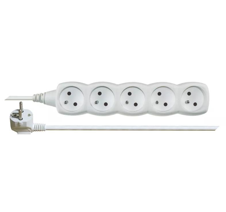 EMOS Prodlužovací kabel s vypínačem – 5 zásuvek, 3m, bílý