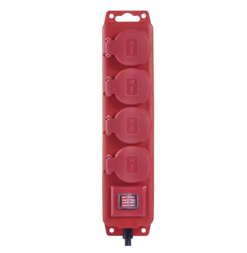EMOS Prodlužovací kabel gumový – 4 zásuvky, 3m, 1,5mm2, IP44