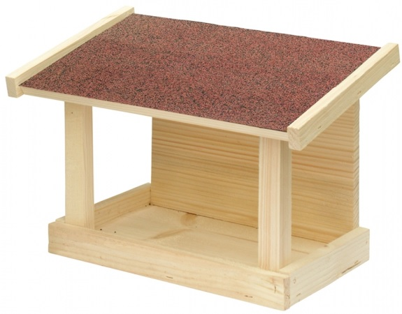 Krmítko dřevěné jednostranné 30x16x21 cm