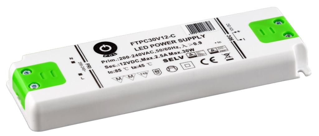 WIRELI 3204000105 Zdroj napětí 12V 30W 2,5A IP20 POS POWER typ FTPC30V12 C