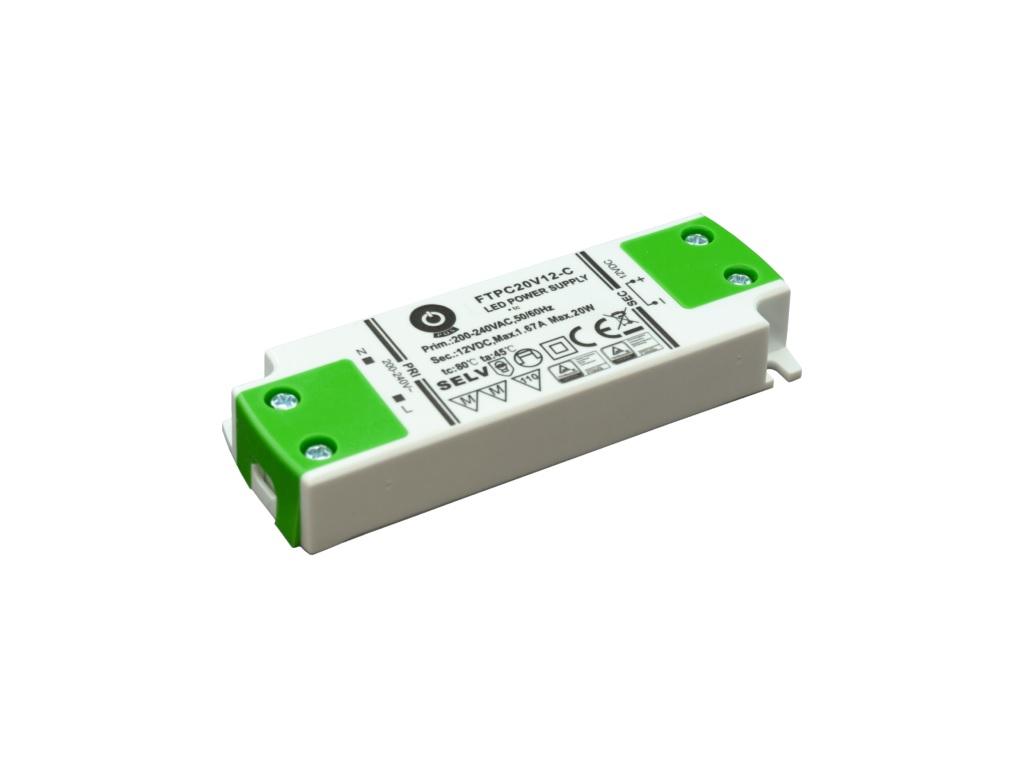 WIRELI 3204000104 Zdroj napětí 12V 20W 1,67A IP20 POS POWER typ FTPC20V12 C
