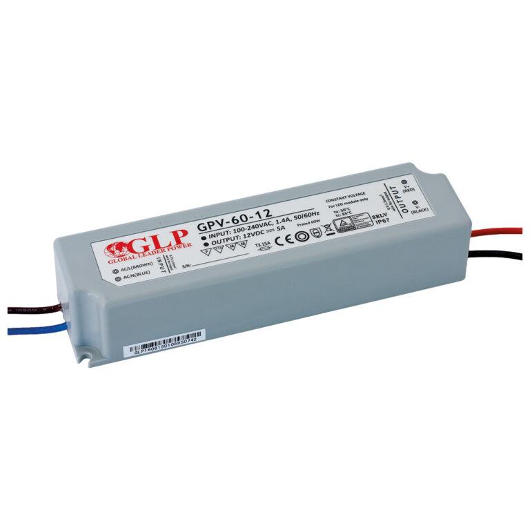 WIRELI 3205056120 Zdroj napětí 12V 60W 5A IP67 GLP typ GPV-60-12