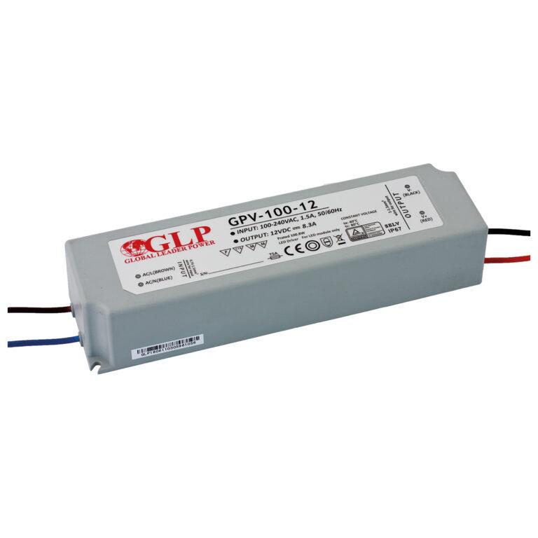 WIRELI 3205057120 Zdroj napětí 12V 100W 8,3A IP67 GLP typ GPV-100-12