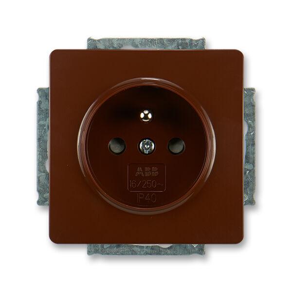 ABB 5518G-A02359 H1 Zásuvka jednonásobná s ochranným kolíkem, s clonkami