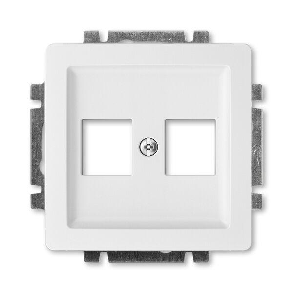 ABB 5014G-A02018 B1 Kryt zásuvky komunikační přímé (2x), s kovovým upevňovacím třm