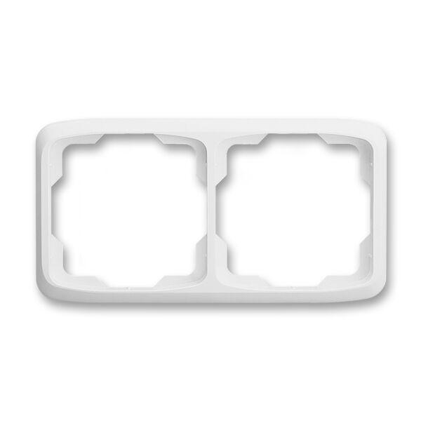 ABB 3901A-B20 B Rámeček dvojnásobný, vodorovný Tango bílá
