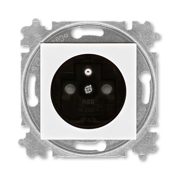ABB 5519H-A02357 62 Zásuvka jednonásobná s ochranným kolíkem, s clonkami