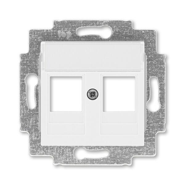 ABB 5014H-A01018 03 Kryt zásuvky komunikační přímé (2x), s kovovým upevňovacím třmenem