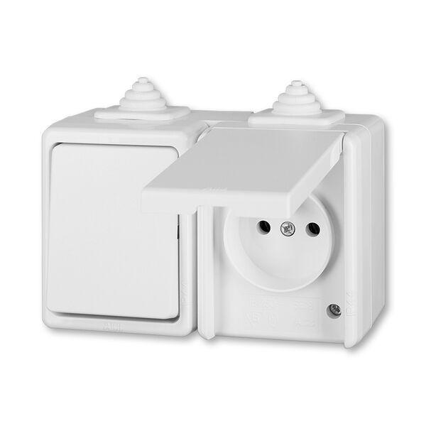 ABB 3932-20062 B Kombinace přepínač střídavý + zásuvka jednonásobná