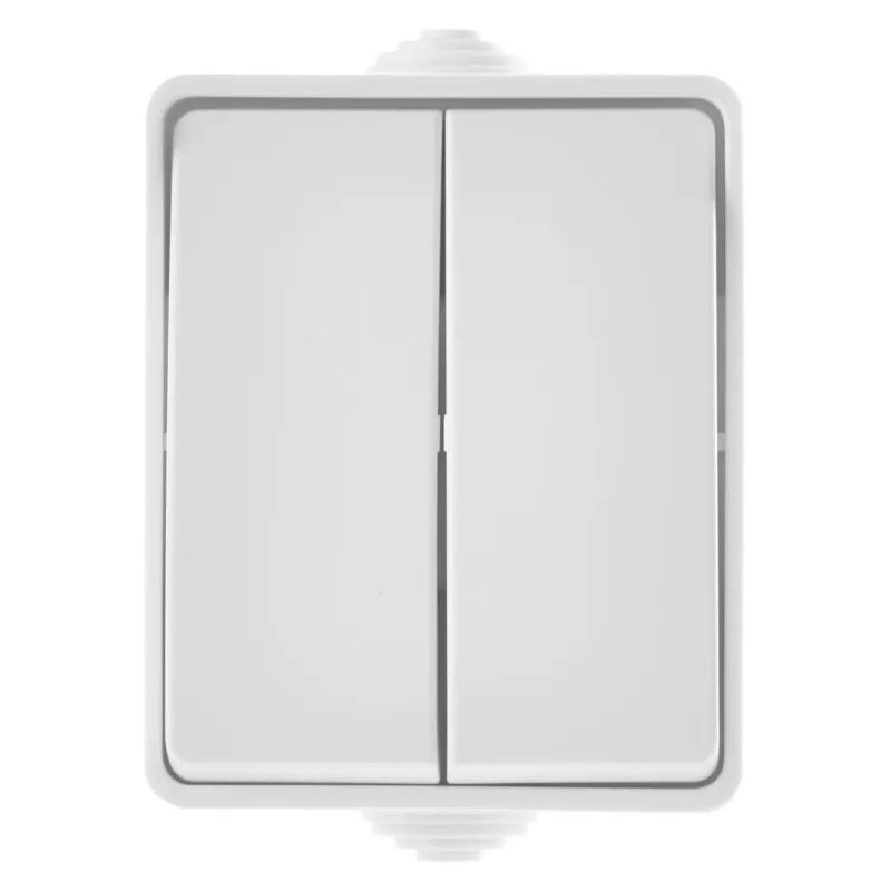 EMOS A1398.4 Přepínač nástěnný č. 5 IP54, 2 tlačítka