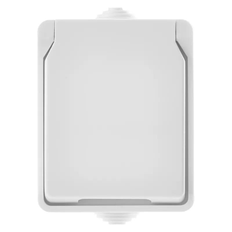EMOS A1397.2 Zásuvka nástěnná, bílá, IP54