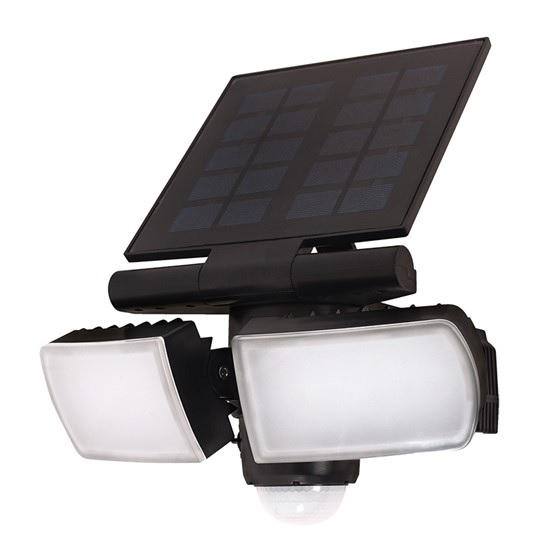 SOLIGHT WO722 LED solární osvětlení se senzorem, 8W, 600lm, Li-on, černá