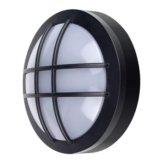 SOLIGHT WO754 LED venkovní osvětlení kulaté s mřížkou, 20W, 1500lm, 4000K, IP65, 23cm, černá