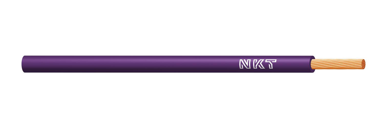 NKT vodič CYA 1 fialová barva (H05V-K)