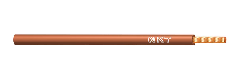 NKT vodič CYA 1,5 hnědá barva (H07V-K)