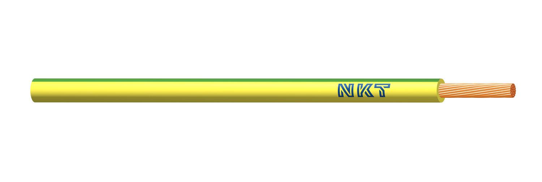 NKT vodič CYA 10 zelenožlutá barva (H07V-K)