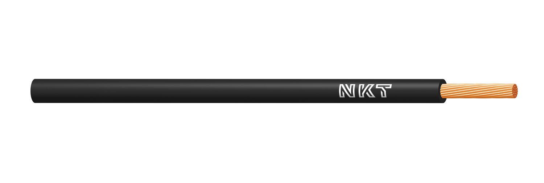 NKT vodič CYA 6 černá barva (H07V-K)