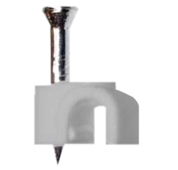 Plastová příchytka pro kabel s hřebíkem, průměr 9-10mm