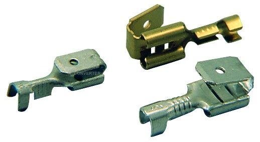 Konektor plochý lisovací MOSAZ, PK 1,5-FM 608-V, balení 20ks