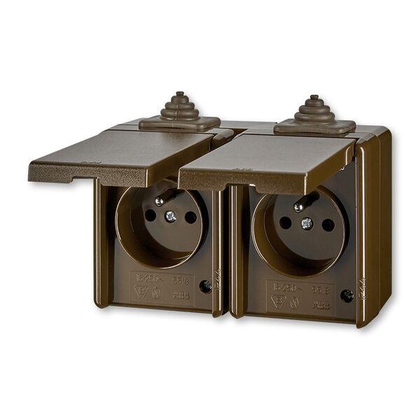 ABB 5518-2069 H Zásuvka dvounásobná IP 44