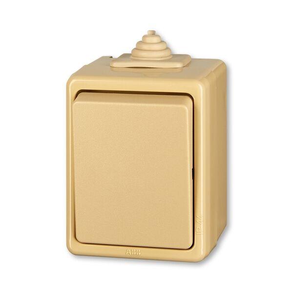 ABB 3553-06929 D Přepínač střídavý, ř.6, IP 44 béžová
