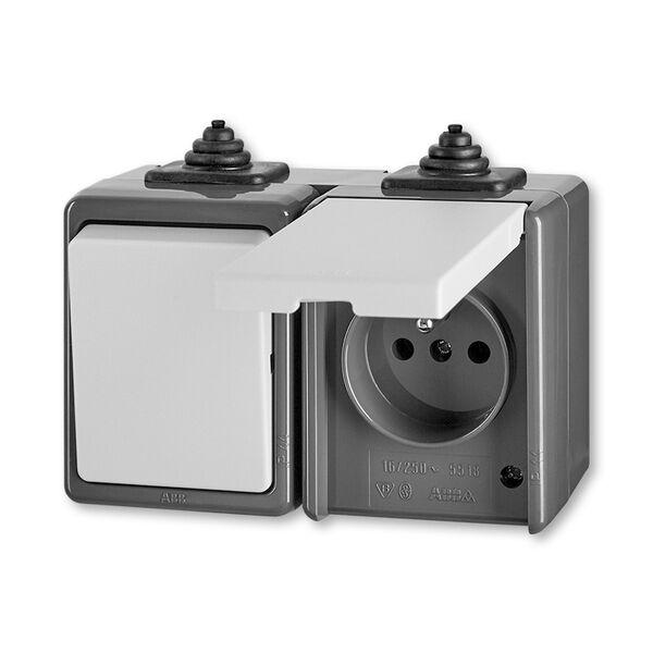 ABB 3932-20062 S Kombinace přepínač střídavý + zásuvka jednonásobná