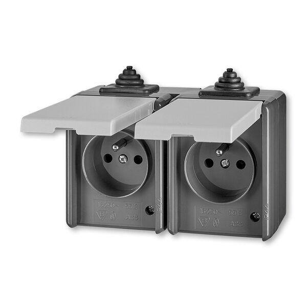ABB 5518-2069 S Zásuvka dvojnásobná IP 44
