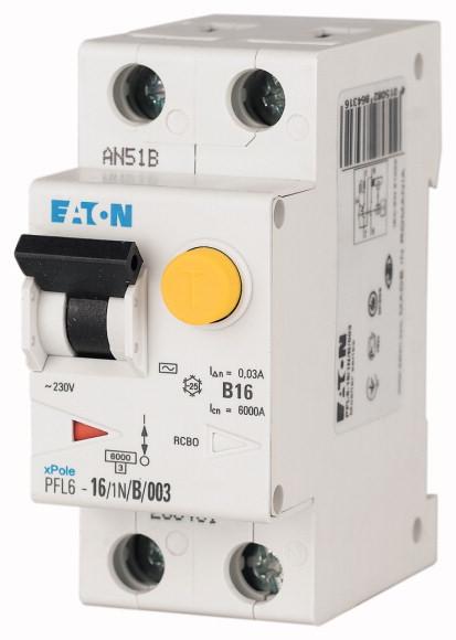 EATON PFL6-10/1N/B/003 Proudový chránič s nadp.ochranou, 6kA