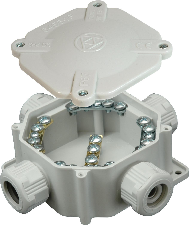 SEZ 6455-11 4.P/2 FUTURE Krabicová rozvodka FUTURE, IP 67, 5P, plastová šedá