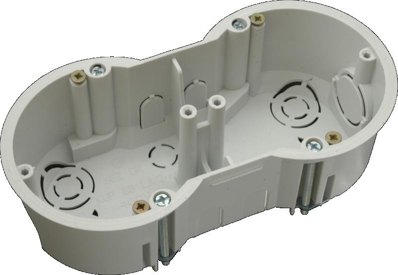 SEZ KUP 68/2 LA (KP 64/2L) krabice dvojnásobná do sádrokartonu