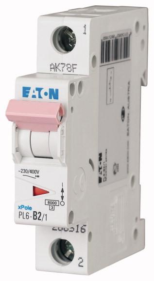 EATON PL6-B2/1 Jistič 1-P, B, 2A, 6KA
