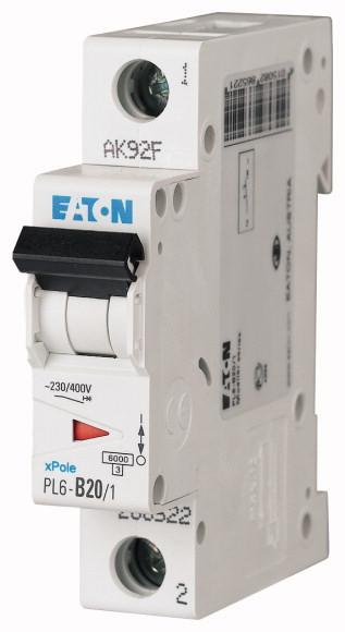 EATON PL6-B20/1 Jistič 1-P, B, 20A, 6KA