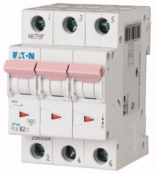 EATON PL6-C16/3 Jistič 3-P, C, 16A, 6KA