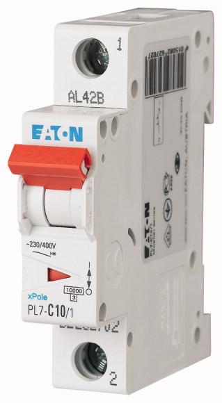 EATON PL7-B10/1 Jistič 1-P, B, 10A, 10KA