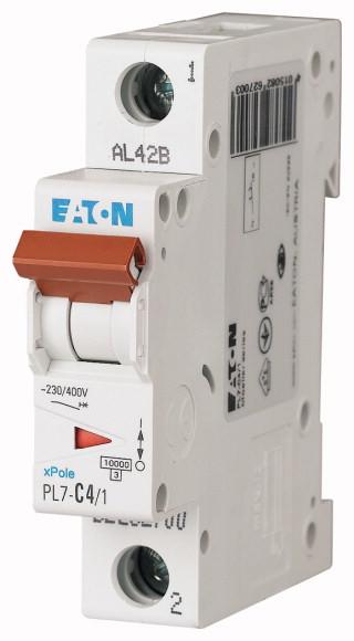 EATON PL7-B4/1 Jistič 1-P, B, 4A, 10KA