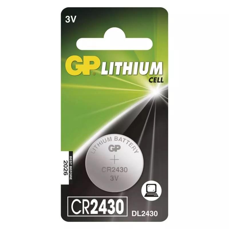 GP Lithiová knoflíková baterie CR2430, 1 ks