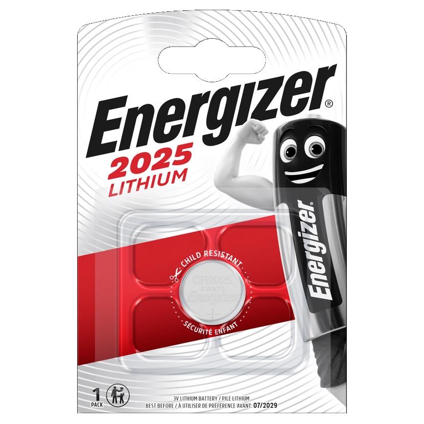 ENERGIZER Baterie CR2025, 1 ks (blistr)