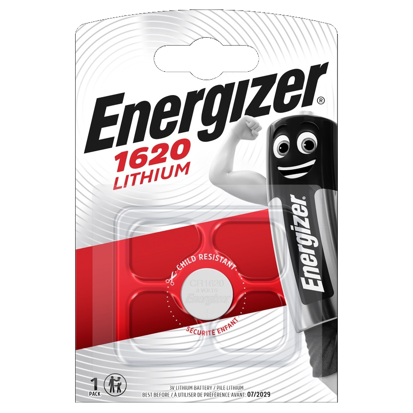 ENERGIZER Baterie CR1620, 1 ks (blistr)