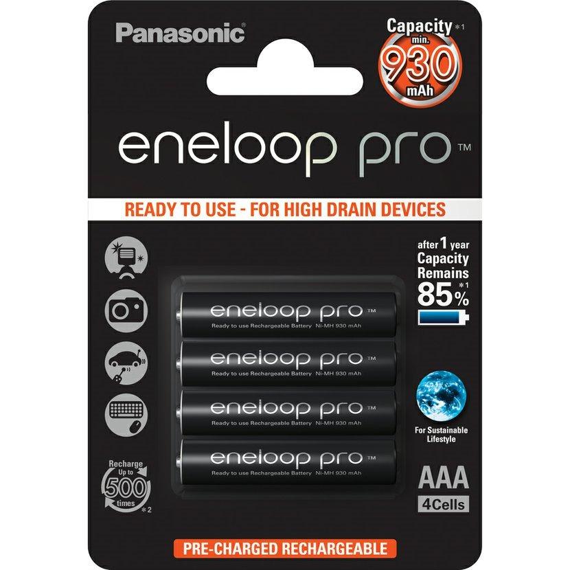 PANASONIC Baterie AAA/HR03 930mAh Panasonic ENELOOP PRO, 4 ks (blistr)