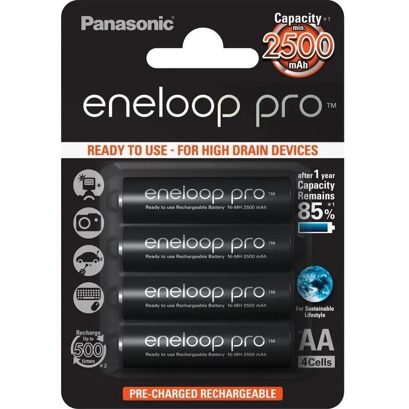 PANASONIC ENELOOP PRO Baterie AA/HR6 2500mAh, 4 ks (blistr)
