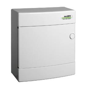 NOARK Rozvodnice plastová PNS 8W, bílé dveře, montáž na omítku, IP40 (101504)