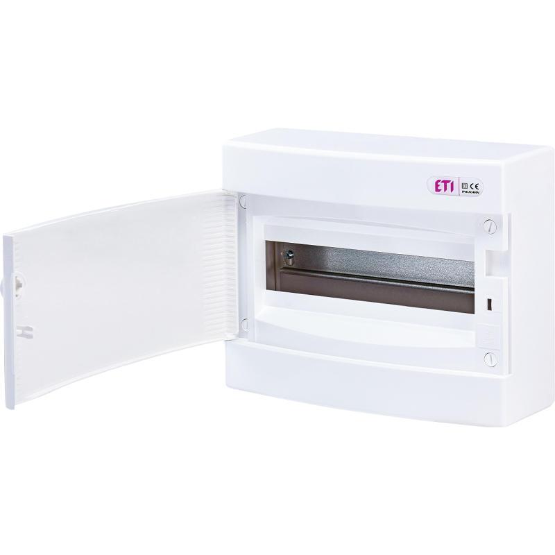 ETI Rozvodnice plastová ECT12PO, bílé dveře, montáž na omítku, IP40, 1Ř, 12M, (001101006)