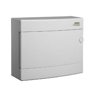 NOARK Rozvodnice plastová PNS 12W, bílé dveře, montáž na omítku, IP40, 1 řada, 12M (101505)