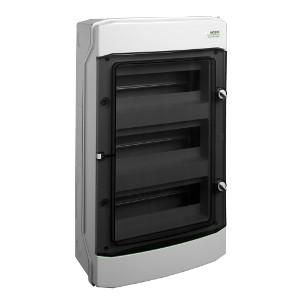 NOARK Rozvodnice plastová PHS 36T, průhledné dveře, montáž na omítku, IP65, 3 řady, 3x12M (101496)