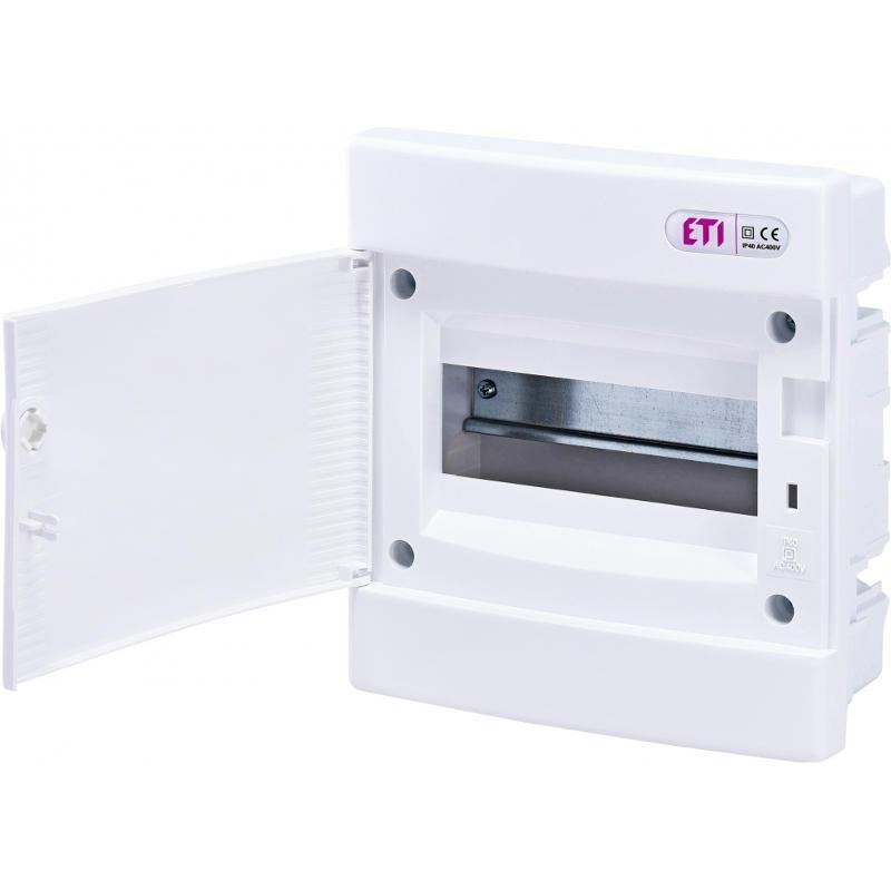 ETI Rozvodnice plastová pod omítku ECM8PO, bílá dvířka, IP40, 1Ř, 8M (001101014)